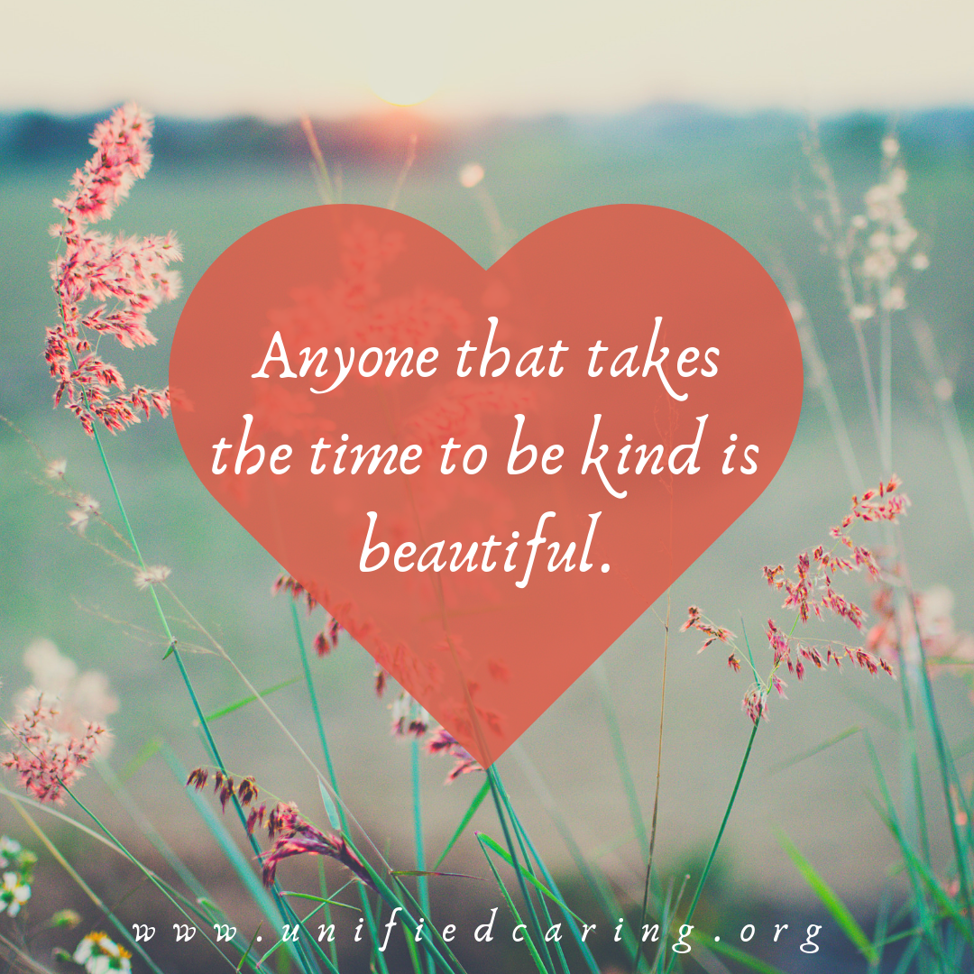take the time to be kind