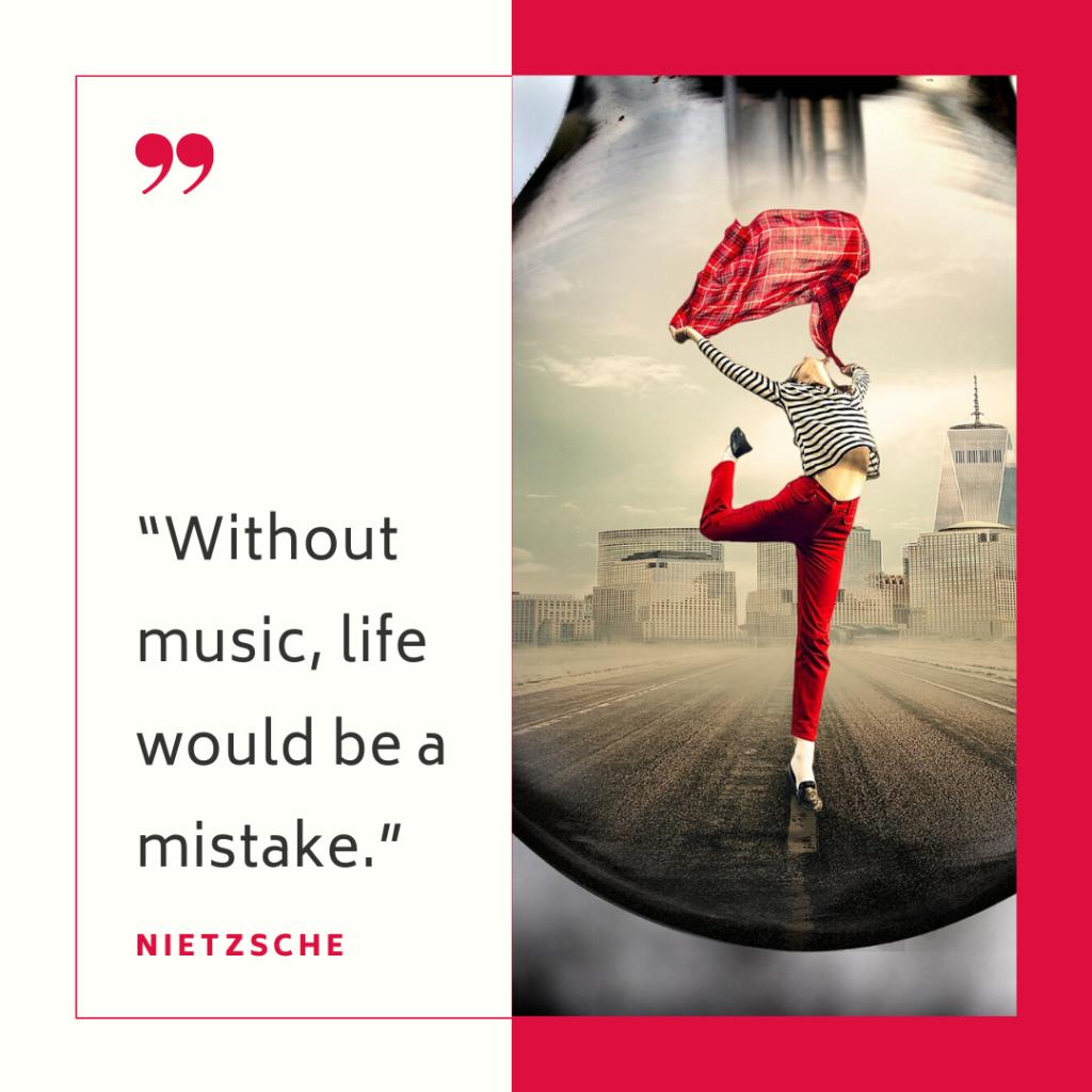 Nietzsche dancing quote